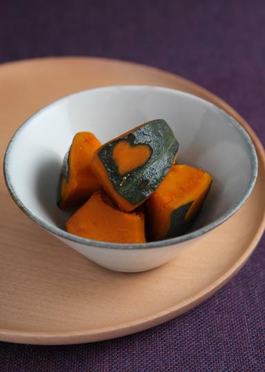 かぼちゃ煮物 白ごはん