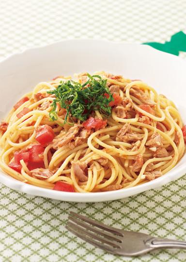 トマトとツナのお手軽和風パスタ のレシピ・作り方 │ABCクッキングスタジオのレシピ