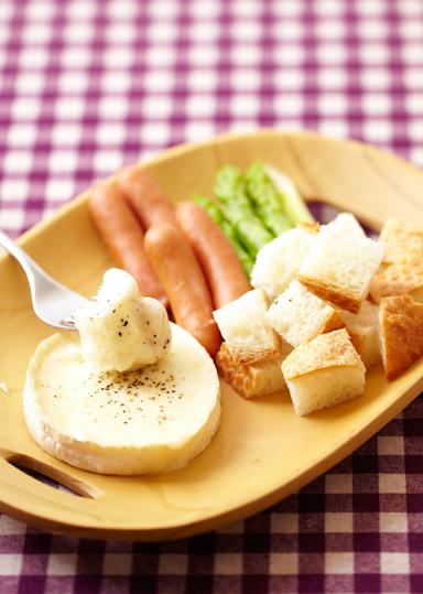 カマンベールのチーズフォンデュ...