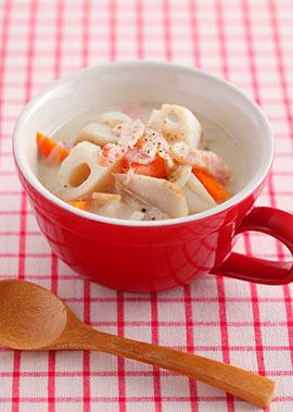 ごろごろ根菜の豆乳シチュー