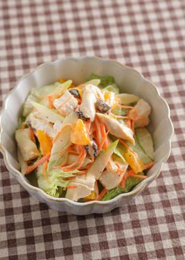 オレンジ風味のチキンマヨサラダ
