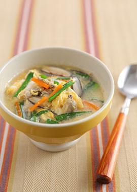 栄養たっぷり卵スープ