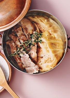 塩豚とキャベツのブレゼ