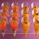 サーモンとトマトの土佐酢ジュレ/かぼちゃとクリームチーズのサラダ