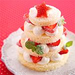いちごのクリスマスツリーケーキ