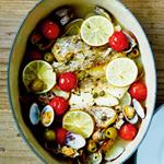 魚介のオーブン蒸し焼き