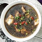 ハロウィンの黒いスープ