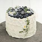 ブルーベリーとハーブのショートケーキ