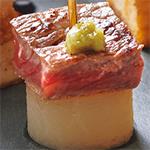 牛ステーキと大根のピンチョス